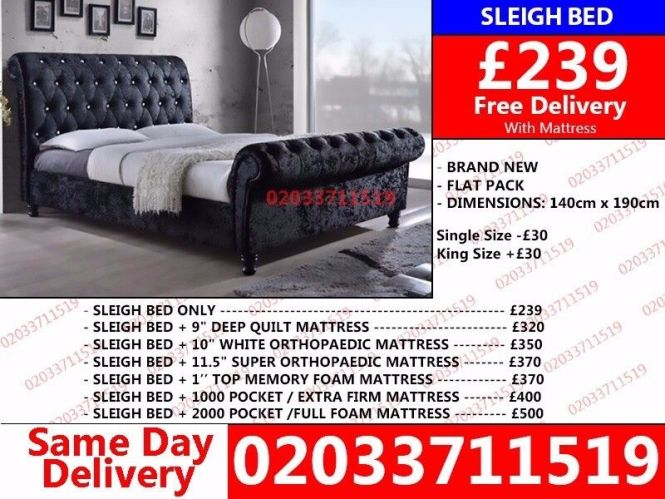 Brand New Double Sleigh Bed Set In Er Price Compeion Time Low San