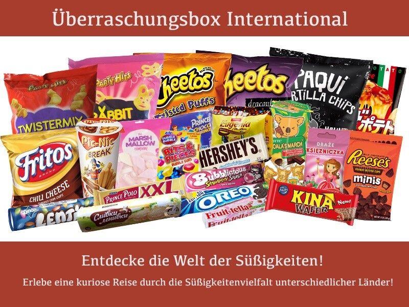 """Überraschung Box """"International M"""" - Süßigkeiten aus der ganzen Welt! NEU!!!!"""