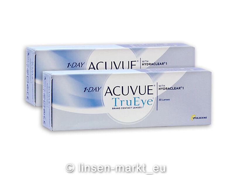 1-Day-Acuvue TruEye moderne Premium-Tageslinsen 2x30