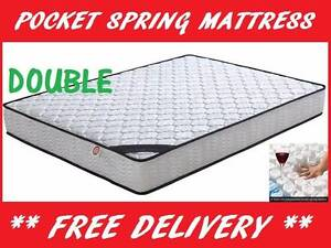 Free Delivery Double Sized Pocket Spring Bed Mattress Brand New