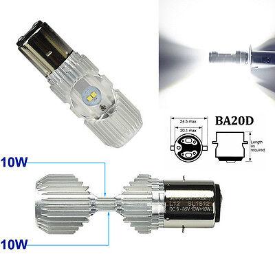 20W BA20D 4 CREE LED Roller Motorrad Hi/Lo Scheinwerfer Glühbirne Deutsche Post