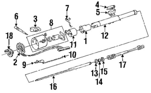 1991 Jeep wrangler steering column diagram
