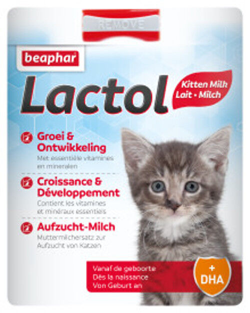 beaphar Lactol Aufzucht-Milch 500g  Muttermilchersatz zur Aufzucht von Katzen