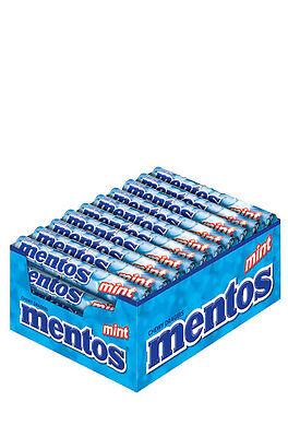 (9,53€/kg) Mentos Mint Kaubonbon 40x 38g Rollen