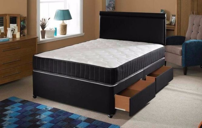 65 Offdouble Or Small Double Divan Bed And Memory Foam Mattress Single
