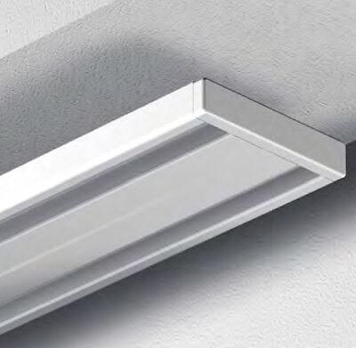 GARDUNA Gardinenschiene Vorhangschiene Aluminium weiss 2 / 1-läufig Wendeschiene