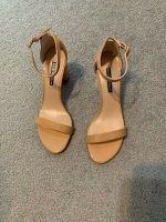 Stuart Weitzman Patent Leather Ankle Strap Sandals - Size 8