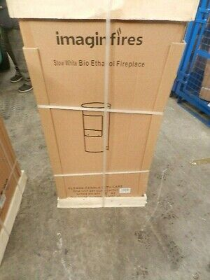 Imagin Fires Stow Bio-Ethanol Real Flame Fireplace Brand New -White