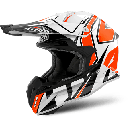casco moto cross enduro quad atv Airoh Terminator 2.2 Shock Gloss 2018 arancio