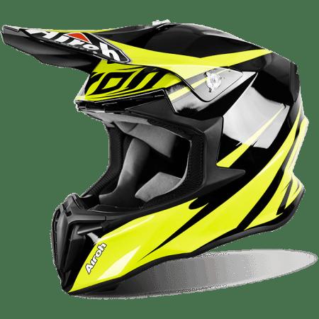 Casco moto cross enduro motard quad Airoh Twist Freedom giallo fluo nero yellow