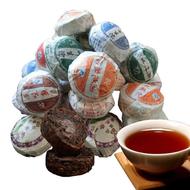 50g 10 Stücke Pu-erh Tee erstklassig Roh Gekocht Puerh Tuocha Abnehmen Puer Tee