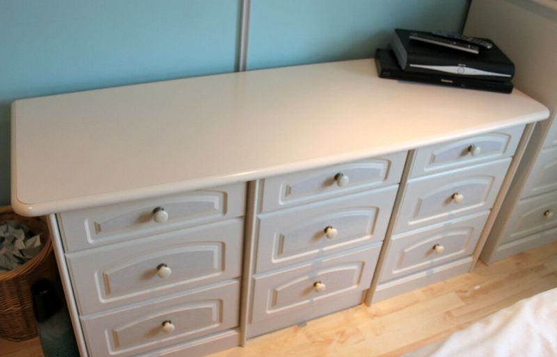 Quality Mfi Schreiber Bedroom Furniture For Cream 6 9 Drawer Dressing Table