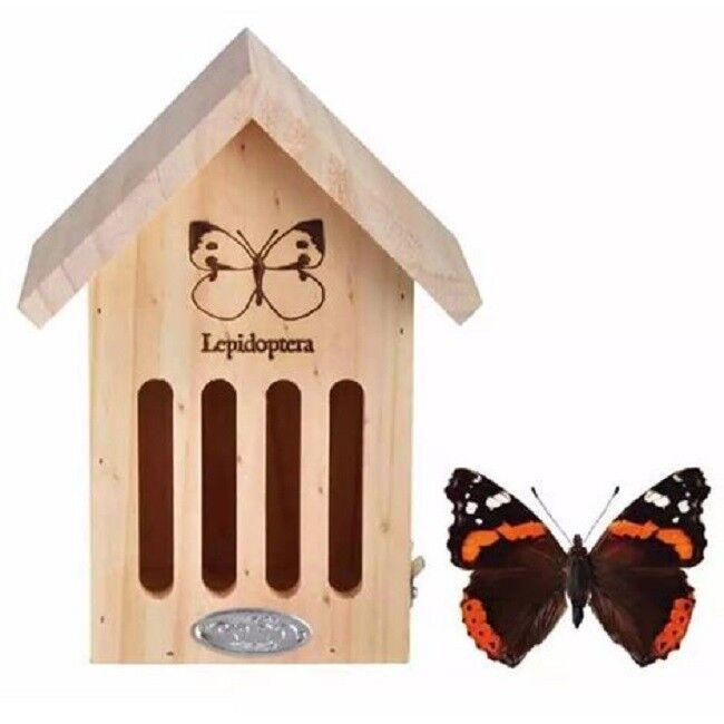 Insektenhotel Schmetterlingshaus m/Silhuoette Schmetterling Nistkasten 100% FSC