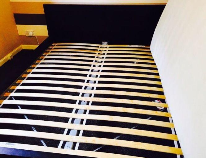 Ikea Malm King Size Bed Frame With Sultan Flokenes Memory Foam Mattress