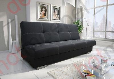 Schlafsofa Funktionssofa Gästesofa Schlafcouch Sofa Couch 3 Farben AXEL