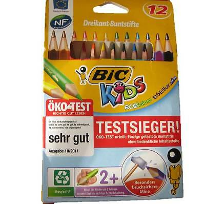 Bic Kids Dreikant Buntstifte 12 er Set extra dick Buntstift 12 Stück