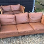 Vintage Retro Danish 2 3 Seater Brown Leather Sofa Couch Mid Century Modern In Hackney London Gumtree