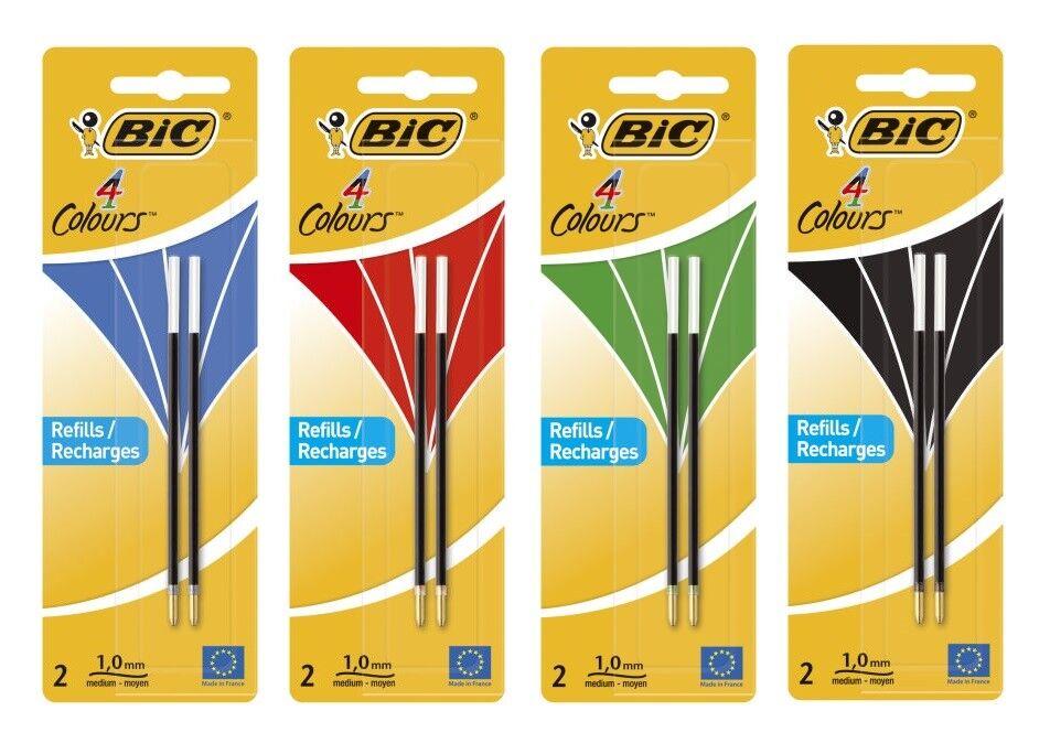 BiC® 4 COLOURS Kugelschreibermine - 0,4 mm, 2 Stück, Farbe wählbar