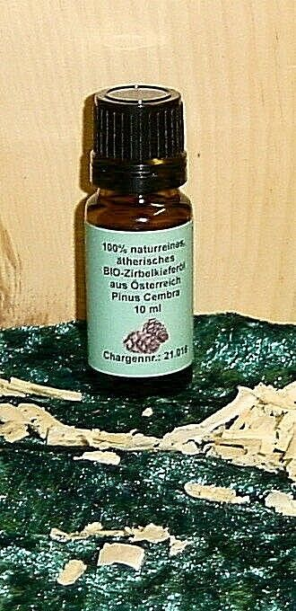 10 ml Original BIO-Zirbenöl 100% naturreines ätherisches Öl in BIO-Qualität