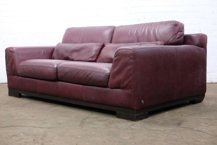 Superb Italian Leather Natuzzi Maroon Three Seater Sofa Cheap Uk Delivery In Sheffield South Yorkshire Gumtree