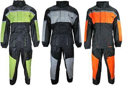 Motorrad Regenkombi Regenhose Regenjacke schwarz orange grün grau Gr. S bis 3XL