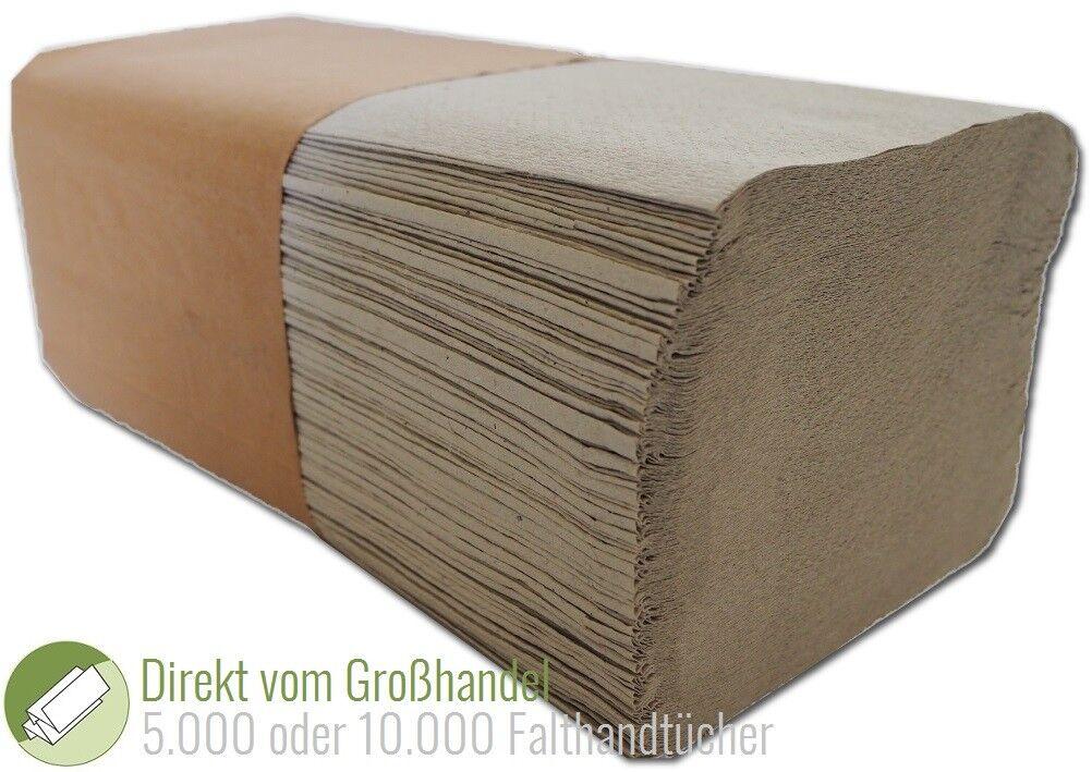 5000/10000 Blatt Falthandtücher Papierhandtücher 25x23cm Handtuchpapier 1 lagig