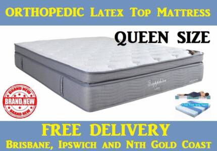 Queen Bed Mattress Orthopedic Latex Top Delivered Free
