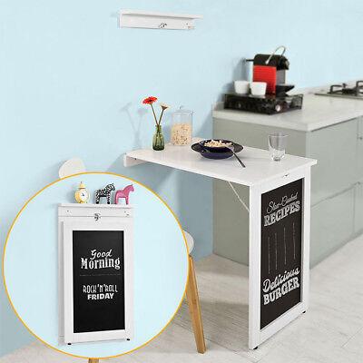 SoBuy® Wandklapptisch aus MDF mit Tafel,Esstisch,Küchentisch,Memoboard,FWT20-W