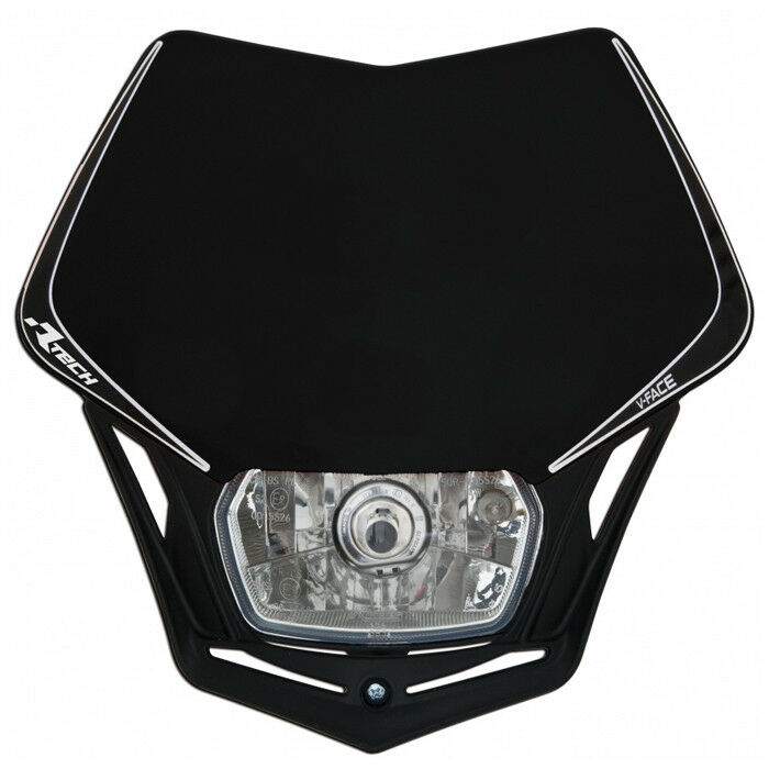 Mascherina portafaro moto cross enduro V-Face Racetech nero Universale Alogeno