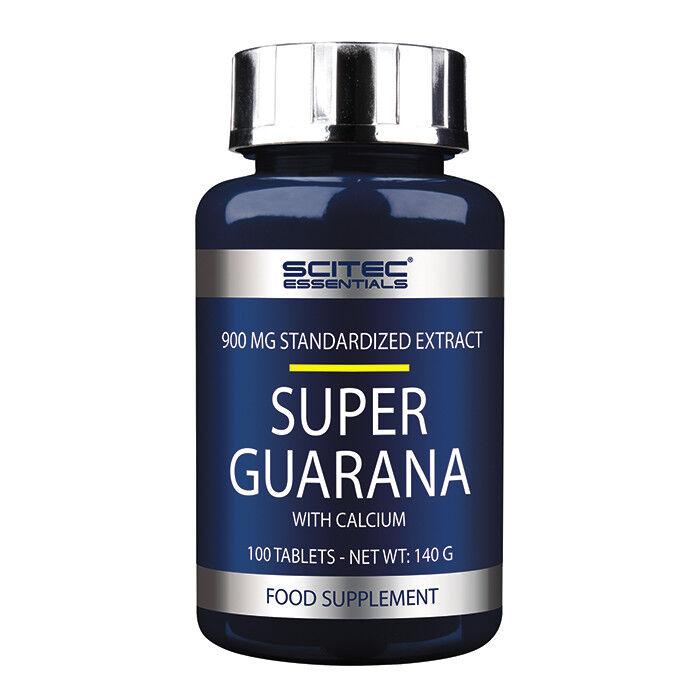 Scitec Nutrition Super Guarana 100 Tabletten Guarana Calcium Koffein + BONUS