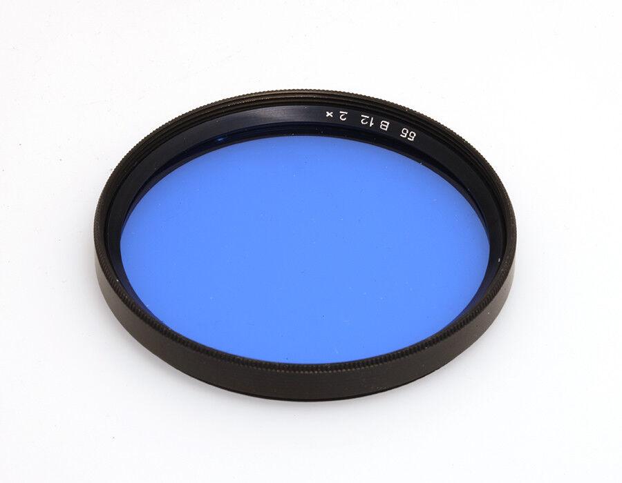 B+W Korrekturfilter Blau KB12 Filtergewinde E55
