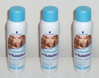 (1L=32,22€) 3x Schauma Cotton Fresh Trocken-Shampoo , 3x150ml
