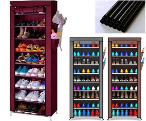 10-Schicht Schuhschrank Schuhablage Schuhregal Schuhständer Vliesstoff 3 Farben