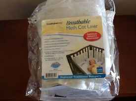 Breathable Mesh Cot Liner 4 Sided Full Wrap