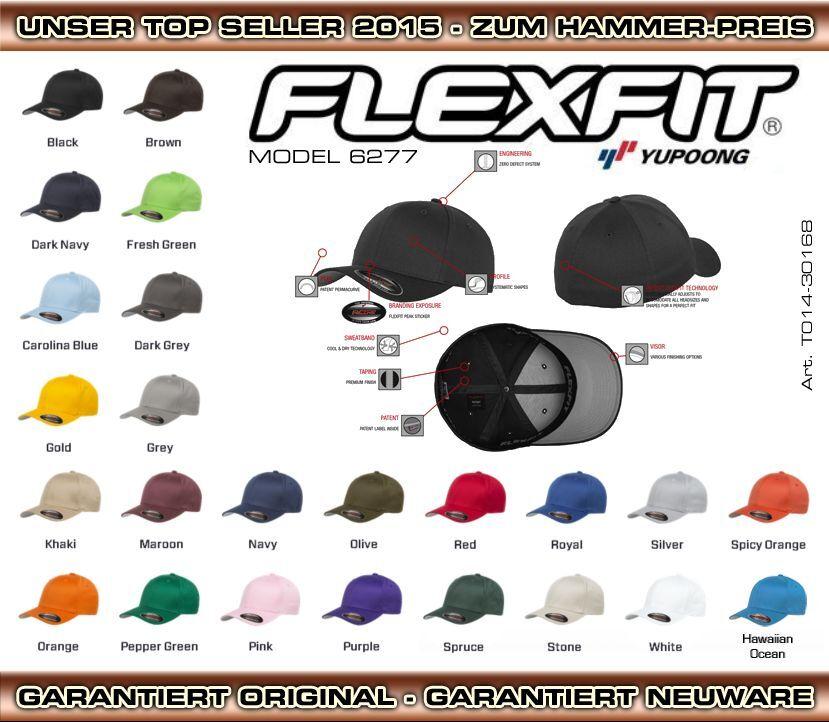 FLEXFIT ORIGINAL BASECAP CAP BASEBALL ★ DER HIT 2019 ★ NUR 1x VERSANDKOSTEN ★
