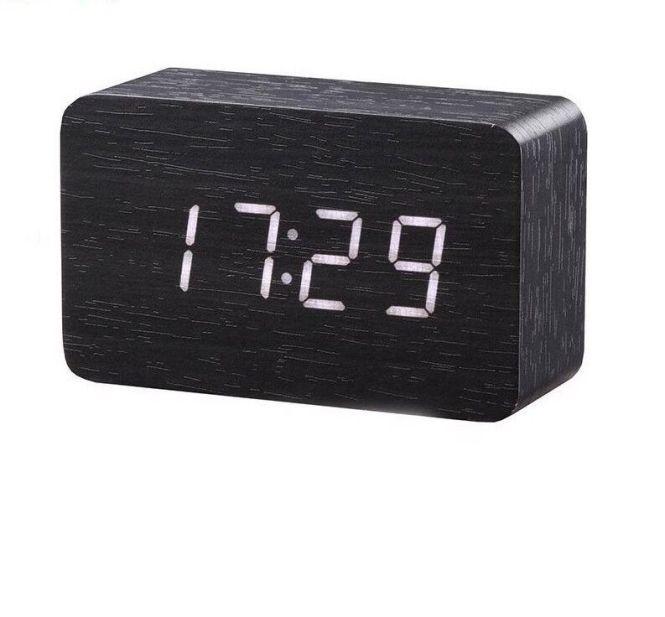 Alarm Clock Modern Temperature Desk Led