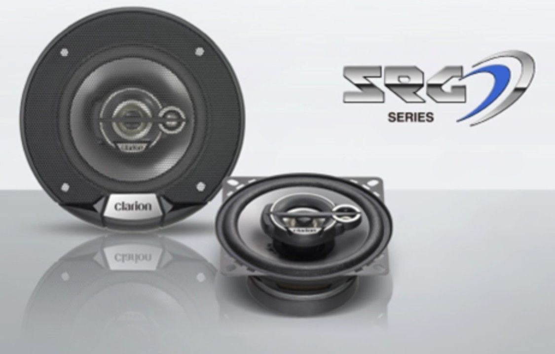 Clarion SRG1033R NEU Auto-Lautsprecher PKW 3 WEGE PAAR, 10 CM 4