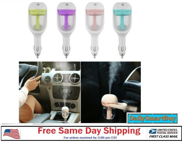 Mini Car Air Humidifier Essential Oil Diffuser Ultrasonic Aroma Mist Purifier