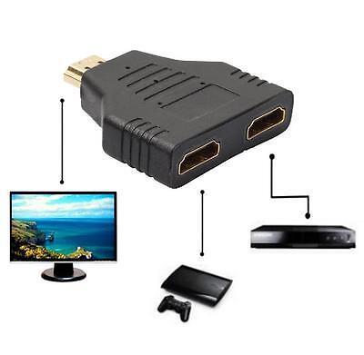 2 in 1 HDMI Kabel Splitter Mini Verteiler Umschalter Y Adapter Full HD 3D 1080P