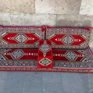 4 pcs Turkish Ottoman Cushion pillows Lounge Couch Sofa Corner Cover Set Palace