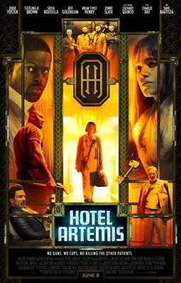 "HOTEL ARTEMIS - 11""x17"" Original Promo Movie Poster MINT 2018 Jodie Foster"