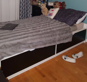 Ikea Flexa Twin Bed With Storage And Memory Foam Mattress