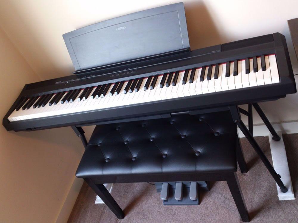 Yamaha P105 Portable Digital Full 88 Key Piano With 3
