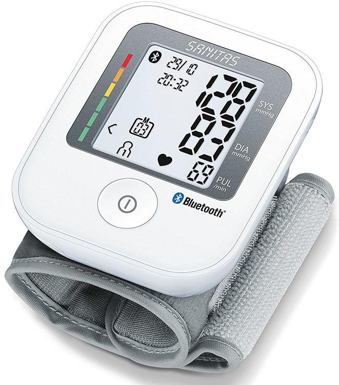 Sanitas Handgelenk Blutdruckmessgerät mit Bluetooth Blutdruck Messgerät via App