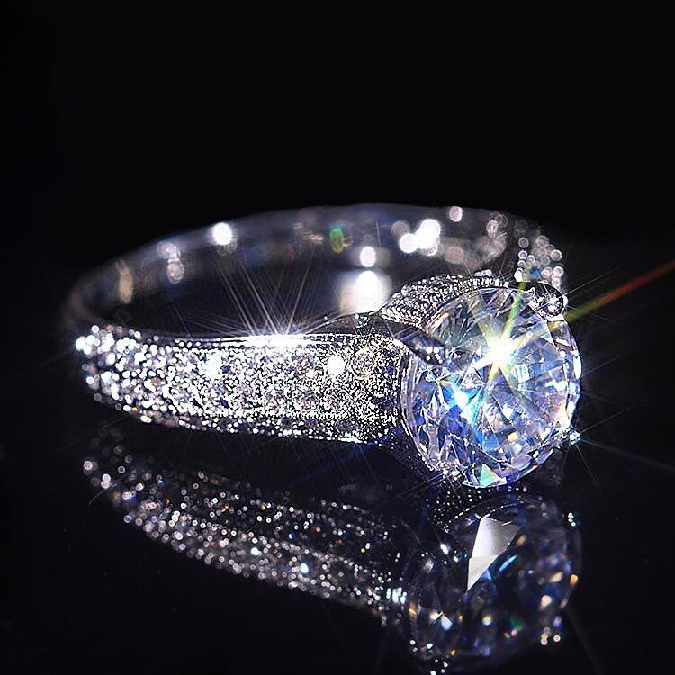 Design-Ring, Swarovski-Elements, 925 Sterling Silber, Damen Ring, Verlobungsring