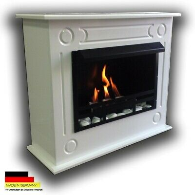 Bio Ethanol Fireplace Chimney Fire Place Camino Firegel Loris XL Premium White