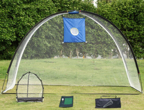 3 In 1 Golf Practice Set Mat Driving Net Chipping Net And