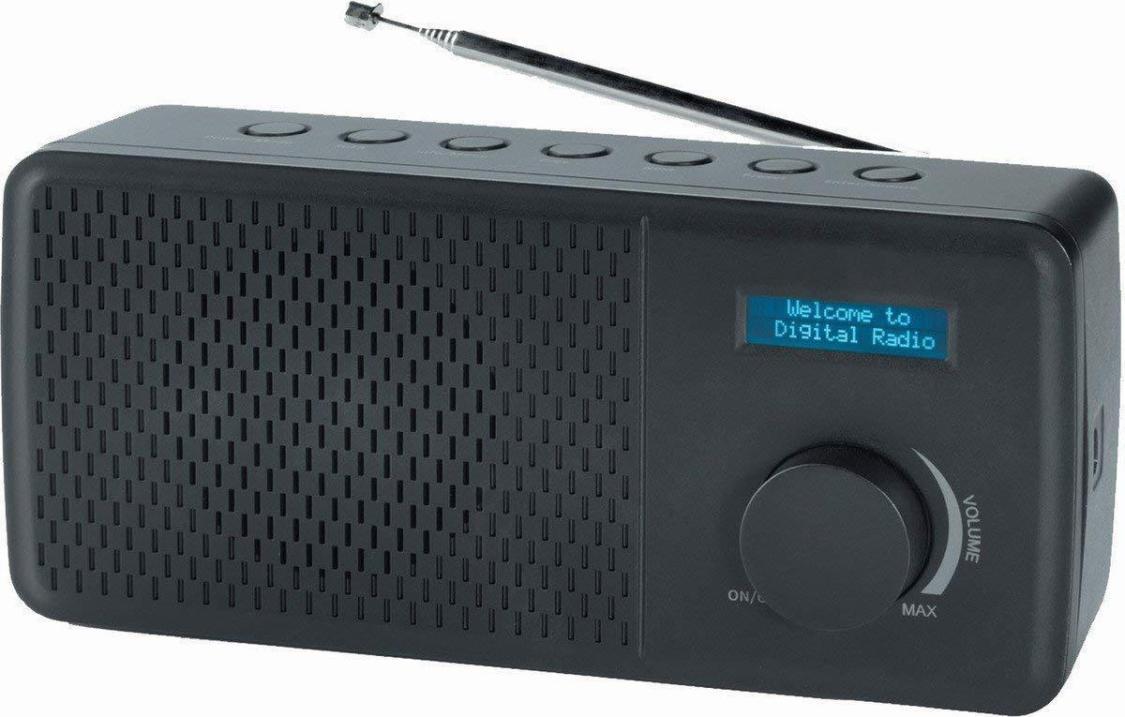 Denver DAB+ & FM Radio DAB-41 schwarz Teleskop-Antenne Dual Alarm