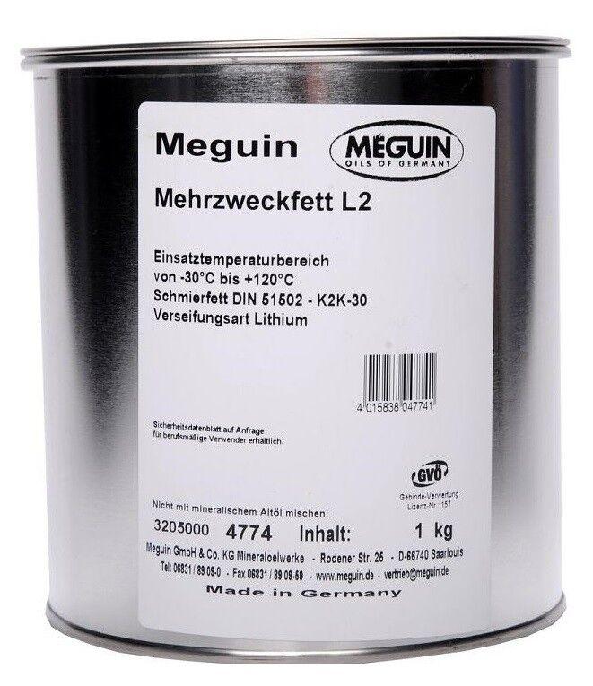 Meguin Mehrzweckfett L2 1 kg Blech Dose Lithium Mehrzweck Fett Schmierfett