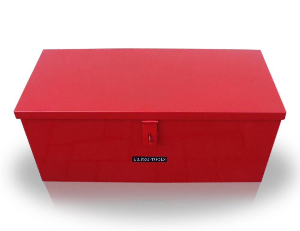 141 US PRO JOB SITE BOX SAFE CHEST TOOL BOX VAN TRUCK SECURITY STEEL METAL 28 EBay